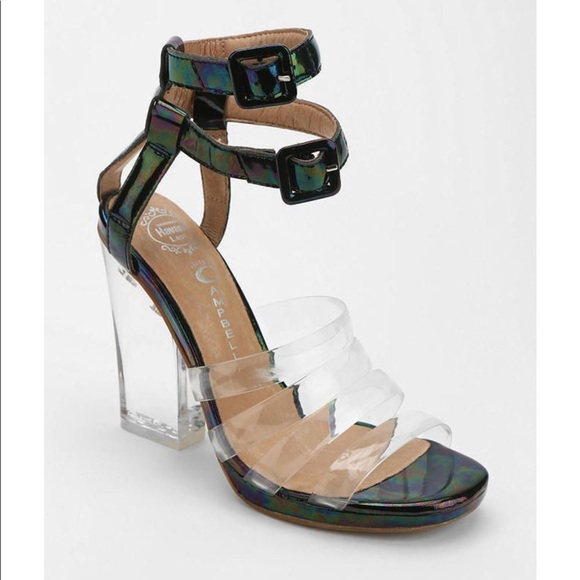 Jeffrey Campbell Leather Caged Sandals supply sale online clearance 100% original BgVUf